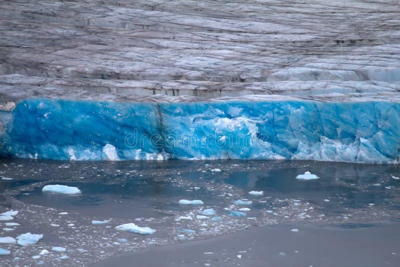 Arctic Glacier. Ice And Cold. Area Novaya Zemlya Stock Photo