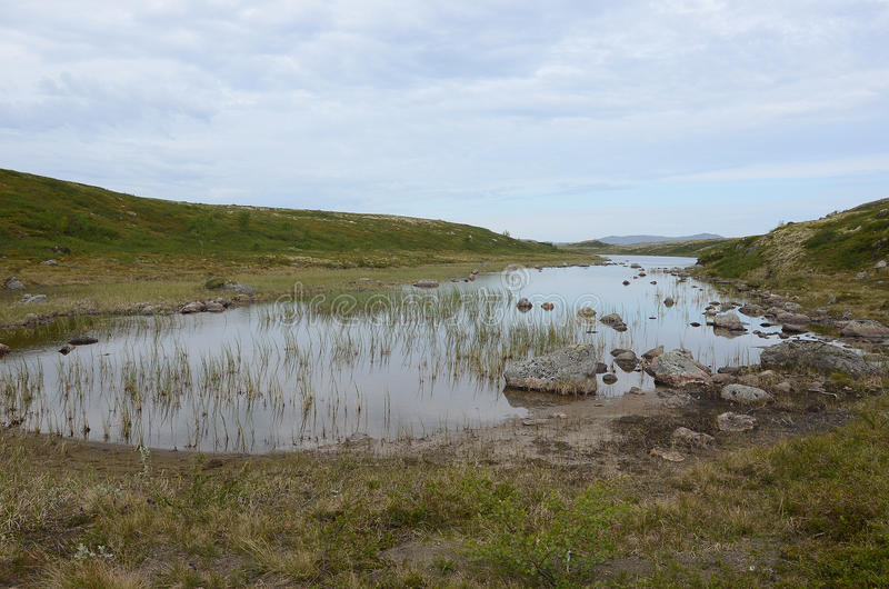 Arctic Lake stock photo