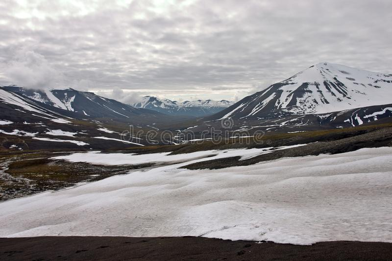 Arctic landscape. On the Svalbard archipelago royalty free stock photography
