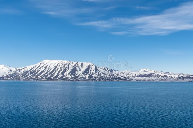 Arctic Landscape, Svalbard Island, Norway 2018 stock photos