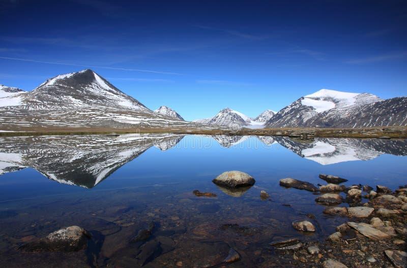 Arctic mountain lake stock images