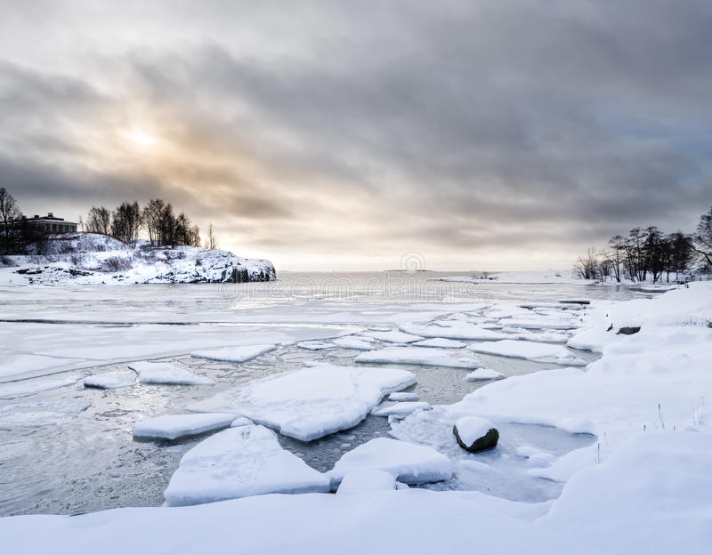 Arctic Snow Winter Landscape. From FInland stock photo