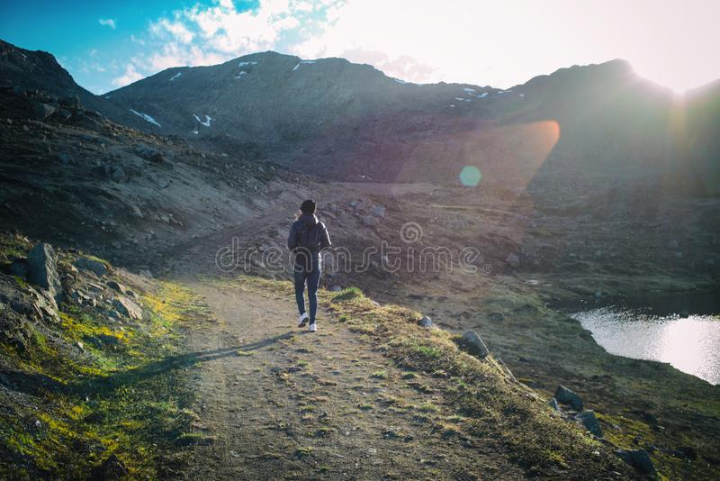 Arctic Summer Hiking royalty free stock image