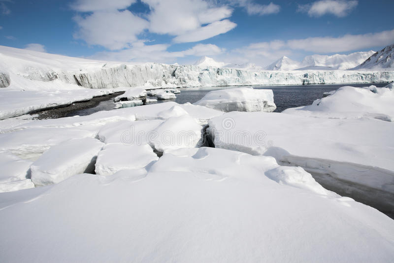 Arctic winter landscape. Mountains and ice royalty free stock images