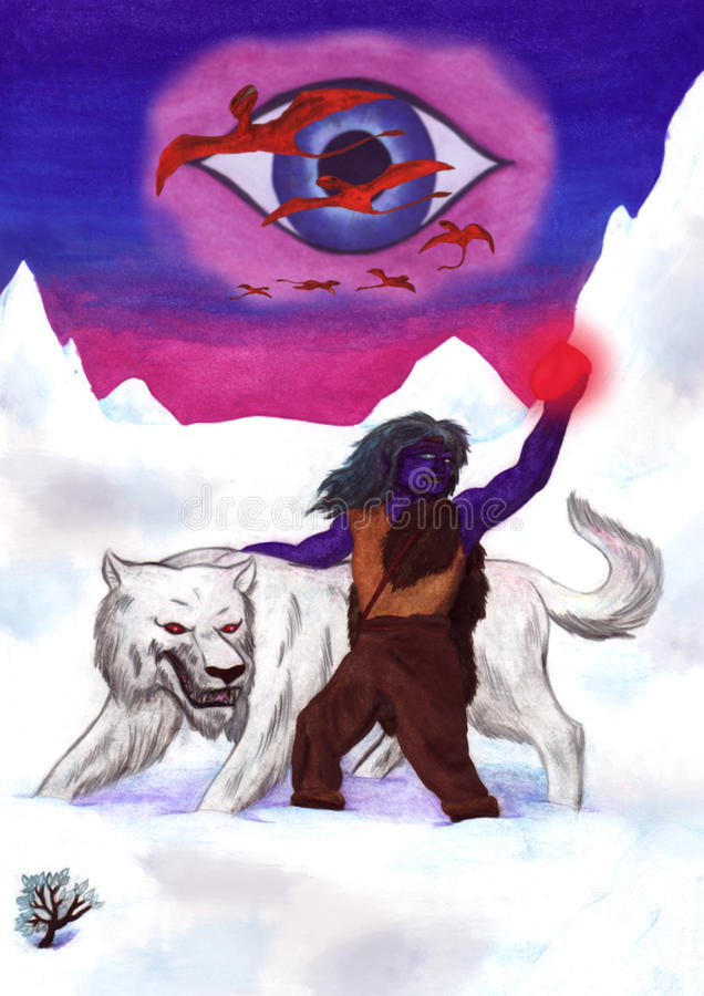 Arctic Wolf (2008) stock illustration