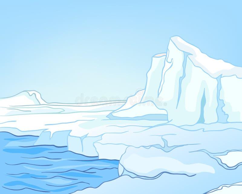Arctique d'horizontal de nature de dessin animé