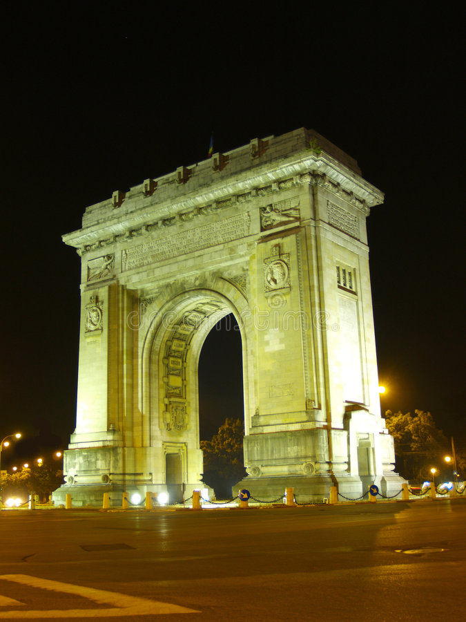 Download Arcul de Triumf Bucharest stock image. Image of picture - 162295