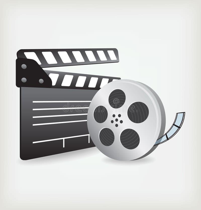 Ardósia da película com película de filme ilustração stock