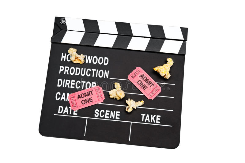 Ardósia da película no branco foto de stock