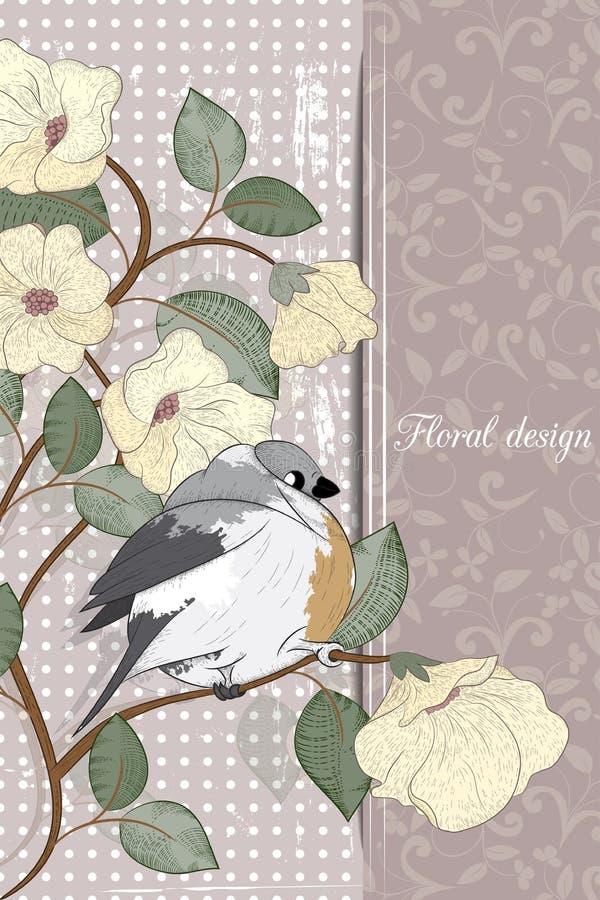 Download Ard ¡ Ð с птицей иллюстрация вектора. иллюстрации насчитывающей праздник - 41661526