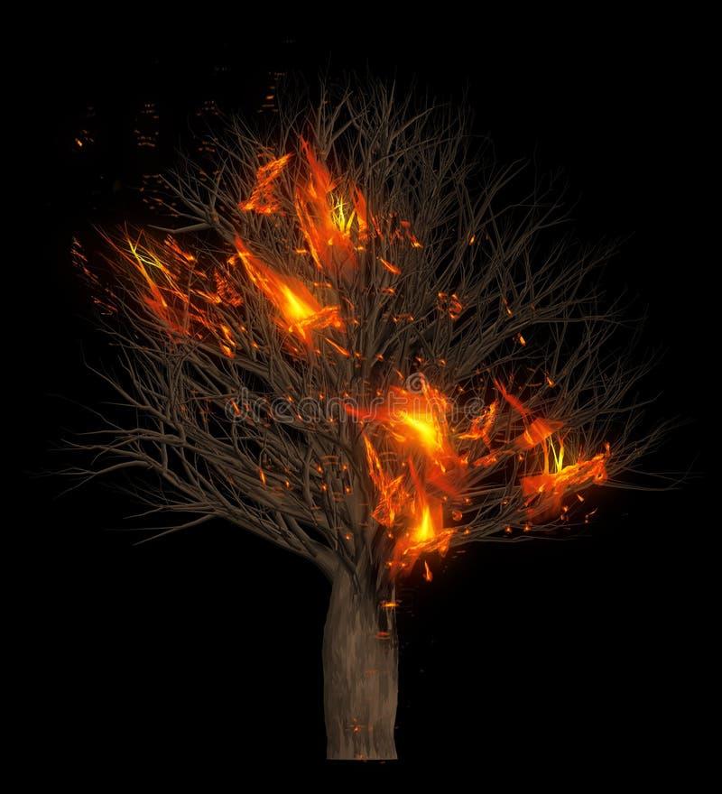 Arda árvores secas de queimadura ilustra??o 3D ilustração stock