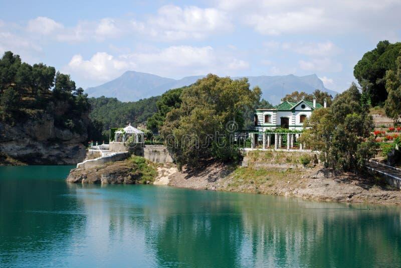ardales guadalhorce λίμνη κοντά στην Ισπανία στοκ εικόνα