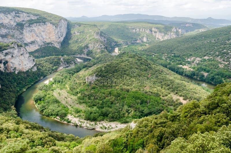 Ardeche峡谷 库存图片