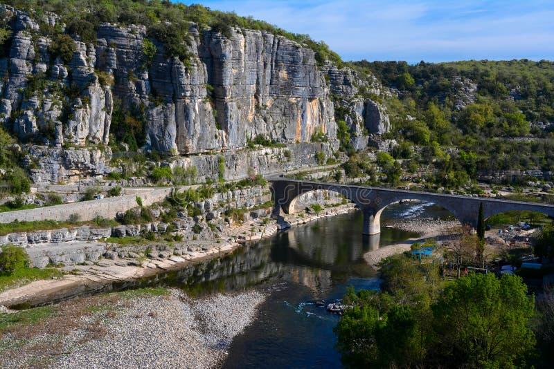 Ardeche rzeka zdjęcia stock