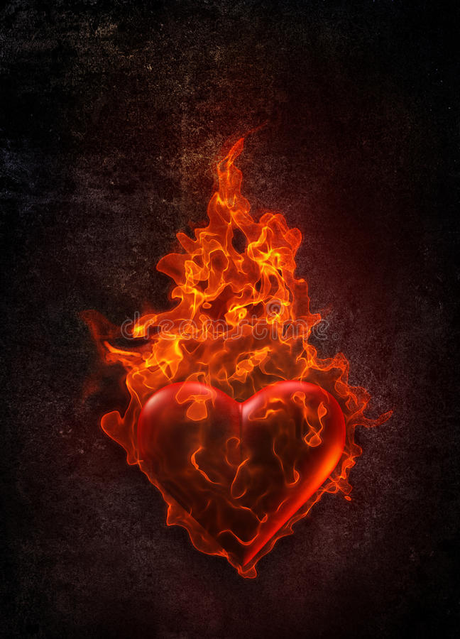 Download Ardent heart stock illustration. Image of flammable, flamboyant - 22072216