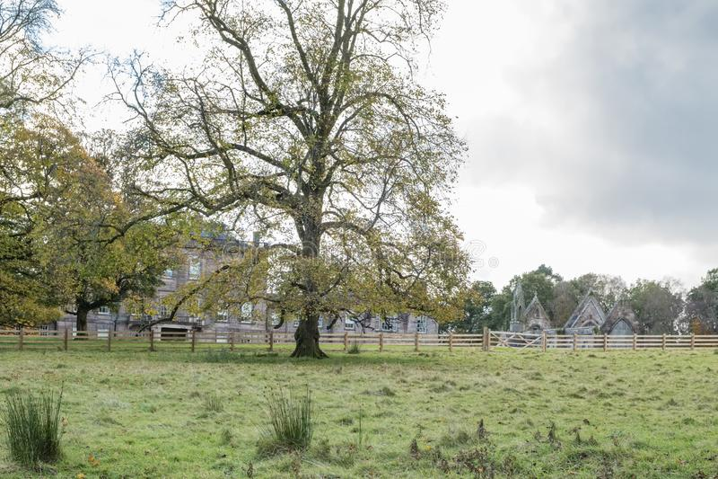 Ardgowan House at Autumn within the Ardgowan Estates Inverkip Scotland stock photography
