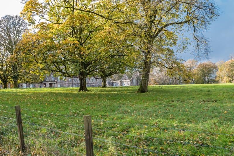 Ardgowan House at Autumn within the Ardgowan Estates Inverkip Scotland royalty free stock photo