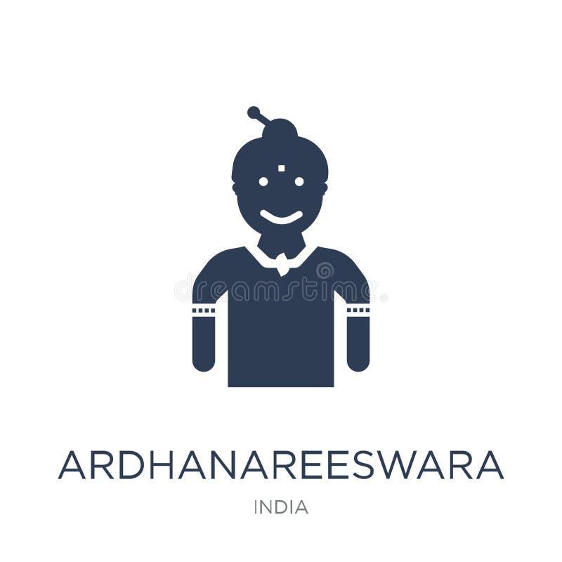 Ardhanareeswara symbol Moderiktig plan vektorArdhanareeswara symbol på vektor illustrationer
