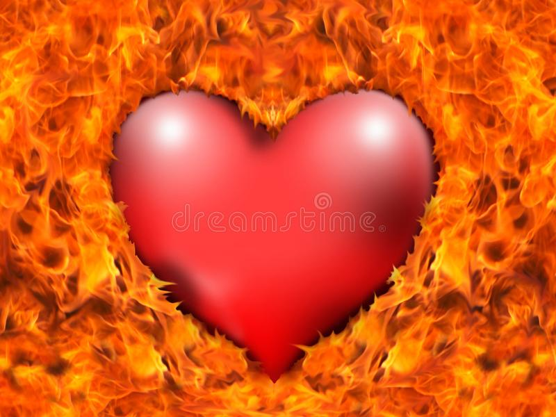 Ardiente corazón imagen de archivo