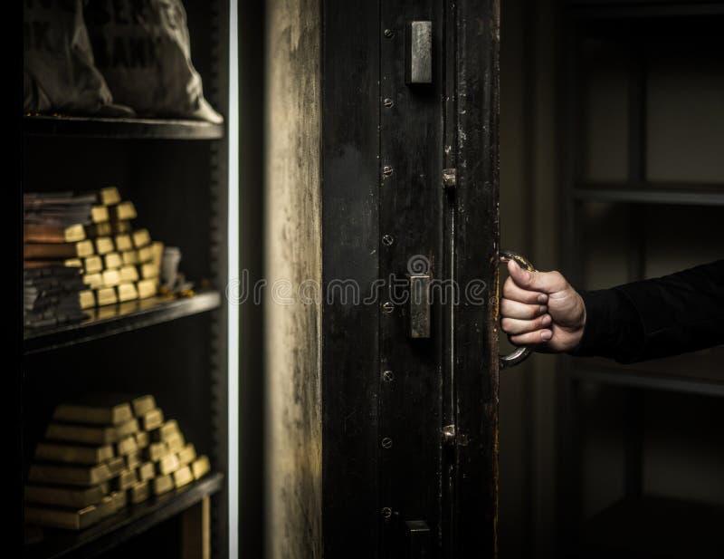 Ardmed-Mann, der eine Bank beraubt lizenzfreie stockfotos