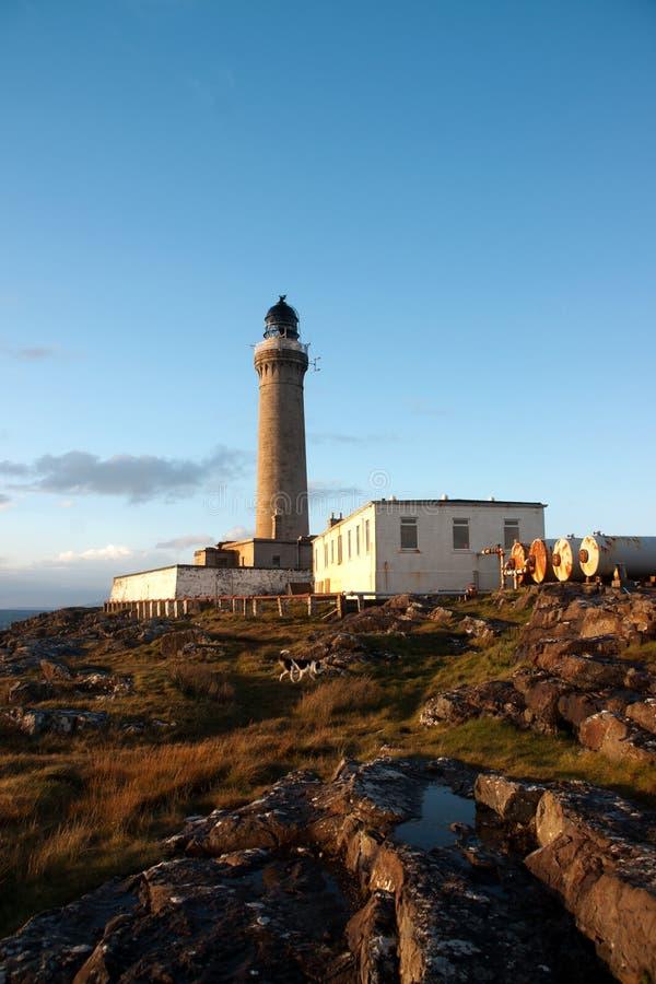 Ardnamurchan-Leuchtturm im scotish Bereich Kilchoan stockfotografie