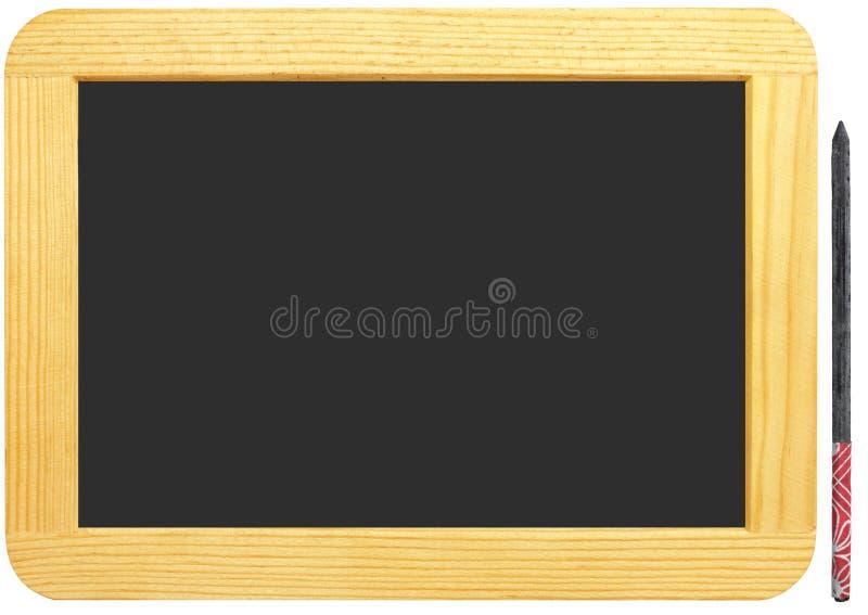 Ardoise blanc et crayon photos stock