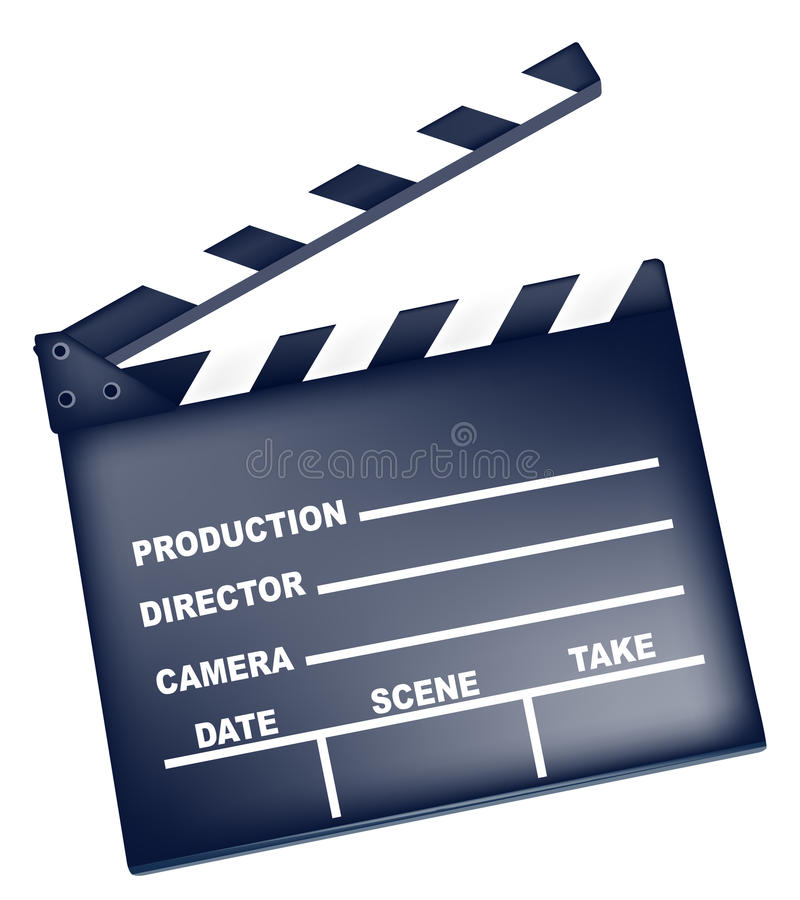 Ardoise de film illustration stock