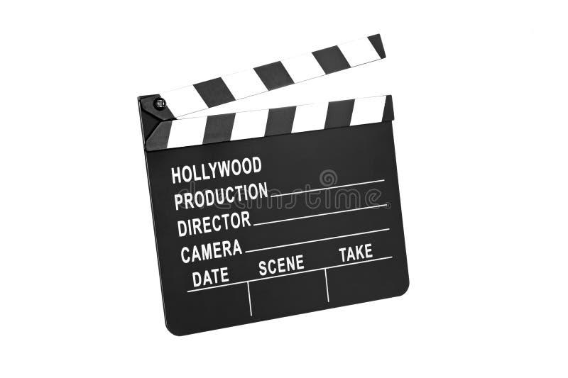 Ardoise de film sur le blanc image stock