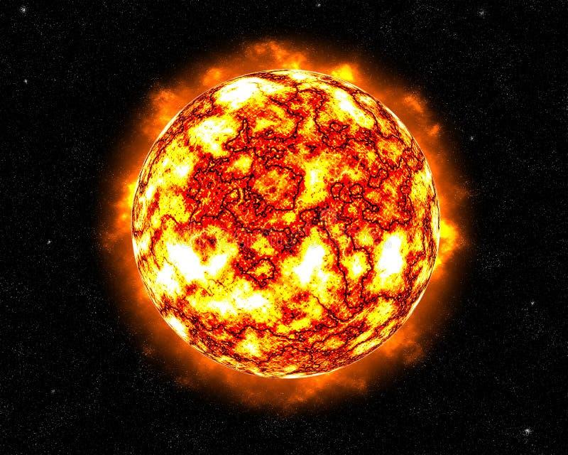 Ardor Sun de alargamento ilustração royalty free