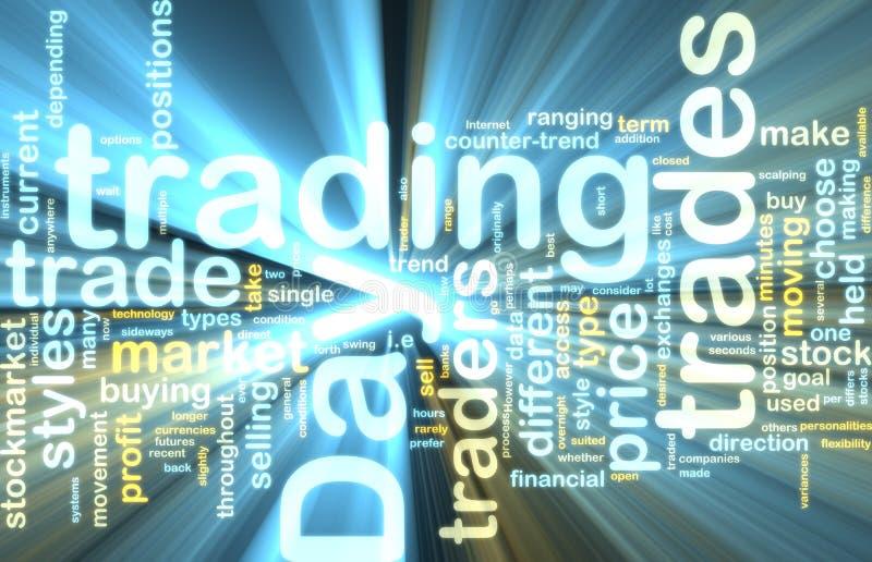 Ardore commerciale del wordcloud di giorno illustrazione vettoriale