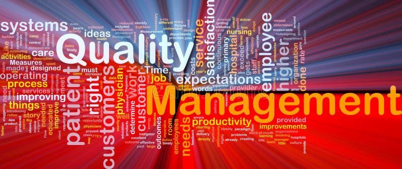 Ardore di concetto della priorità bassa della gestione di qualità illustrazione vettoriale