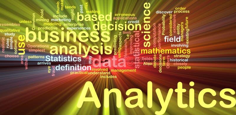 Ardore di concetto della priorità bassa di Analytics illustrazione vettoriale