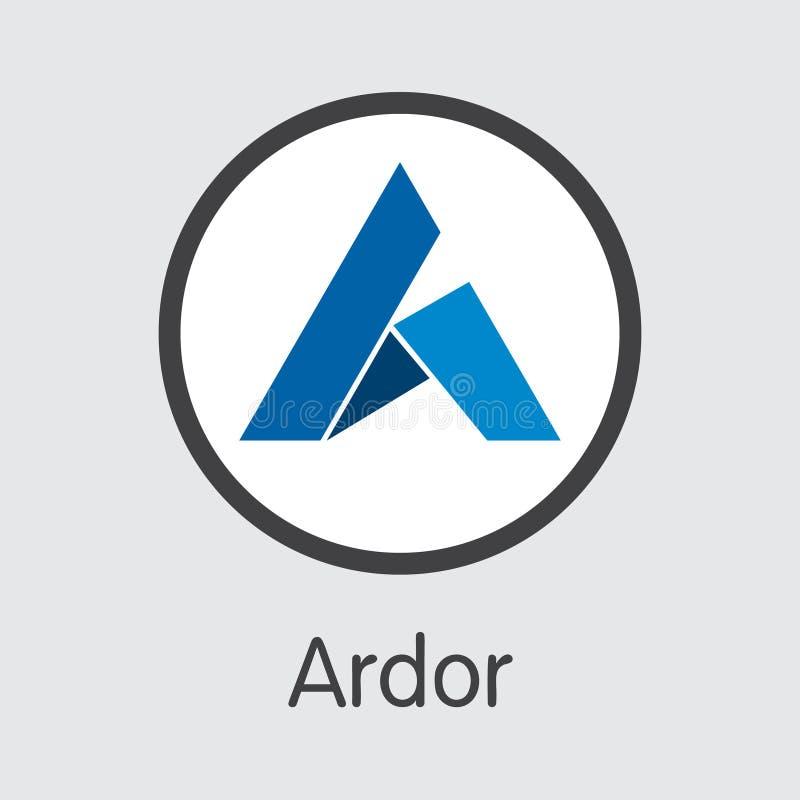 ARDR - Enthousiasme Het Marktembleem van Muntstuk of Marktembleem stock illustratie