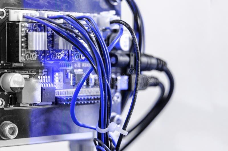 Arduino PCB domowej roboty przyrz?da mi?kkie ogniska, obrazy stock