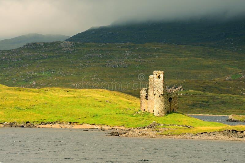 Ardvreck castle, Assynt, Scotland stock photos