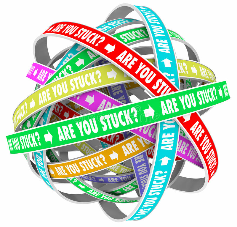 Free Are You Stuck Rut Lost Going Circles Words Stock Photo - 79892240