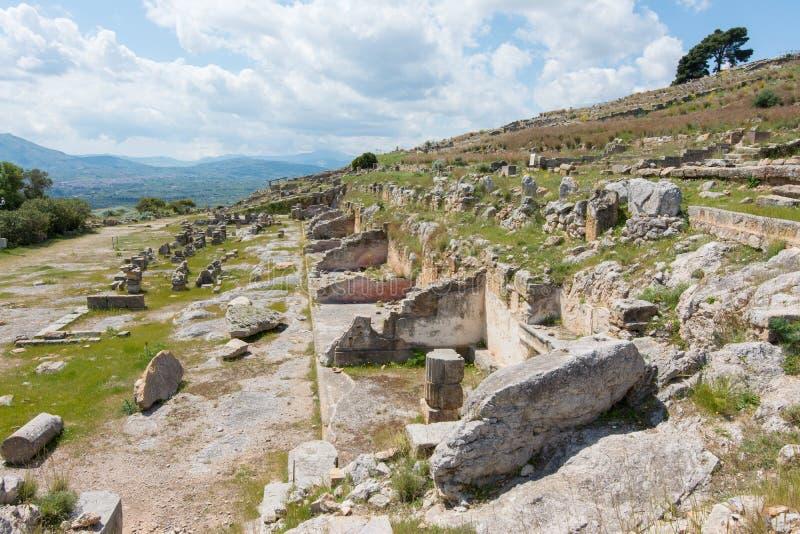Area archeologica di Solunto, vicino a Palermo, in Sicilia immagine stock