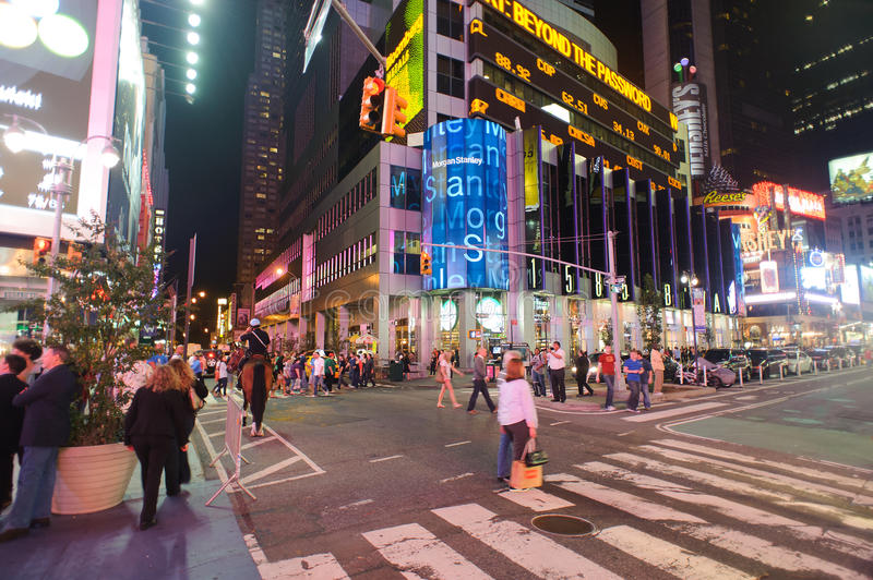Area around times square at night editorial photography for What to do around times square