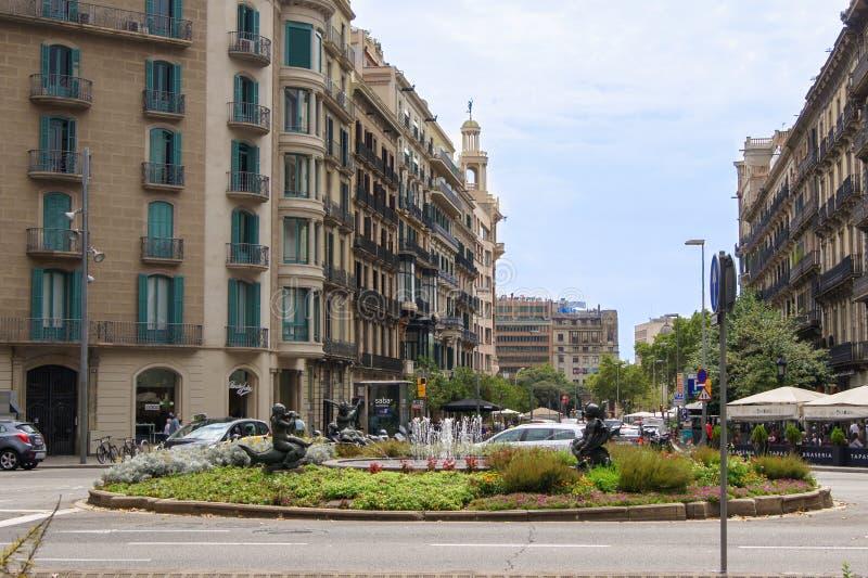 Area Barcellona immagini stock