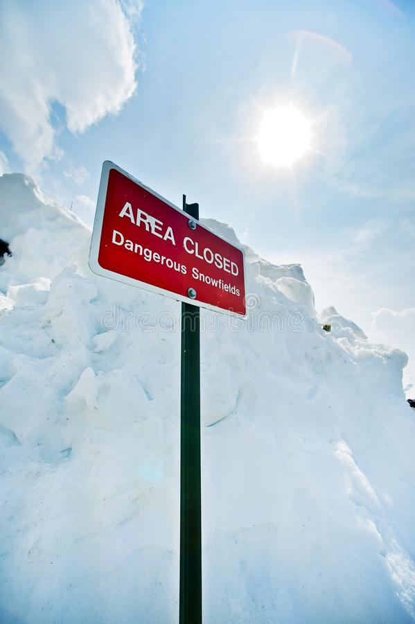 Download Area Closed stock photo. Image of wintry, signage, cold - 25962966