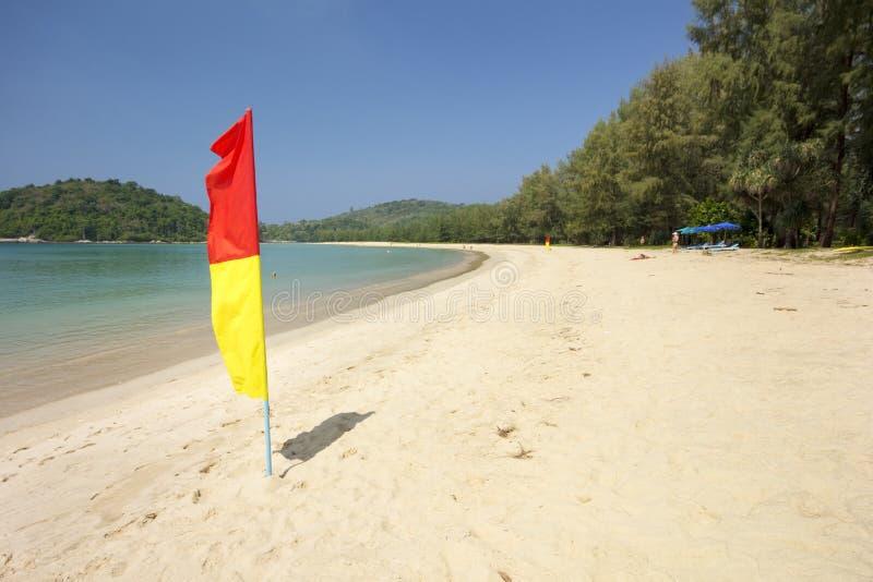 Area della pattuglia del bagnino sulla spiaggia fotografia stock libera da diritti