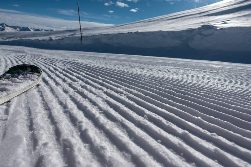 area dello sci con tempo fantastico fotografia stock