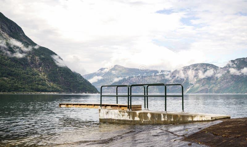 Area di Eidfjord immagini stock