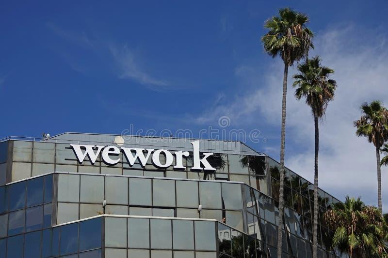 Area di lavoro di Office condivisa di Hollywood fotografie stock libere da diritti