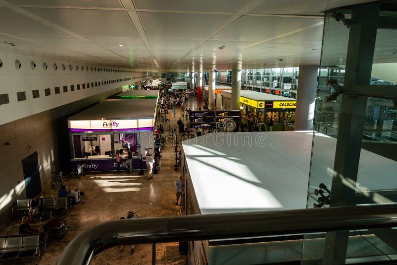 Area di partenza dell'aeroporto fotografie stock libere da diritti