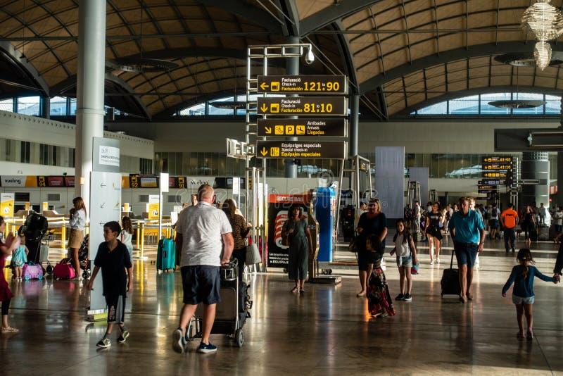 Area di partenza dell'aeroporto immagini stock libere da diritti