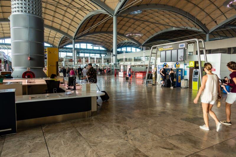 Area di partenza dell'aeroporto fotografia stock libera da diritti