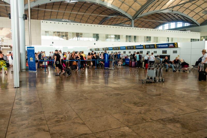Area di partenza dell'aeroporto fotografie stock