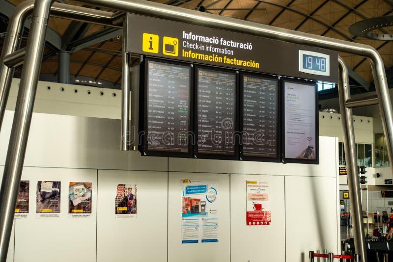 Area di partenza dell'aeroporto immagine stock