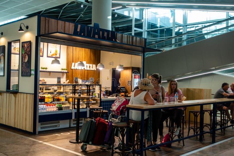 Area di partenza dell'aeroporto fotografia stock